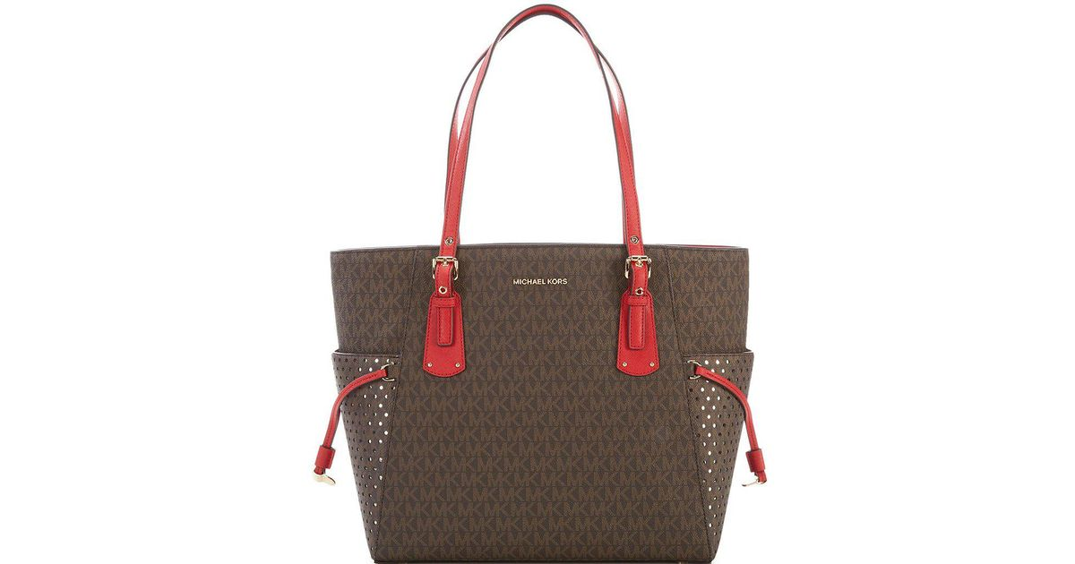 886f315a33 Lyst - MICHAEL Michael Kors Signature Voyager East west Tote in Brown