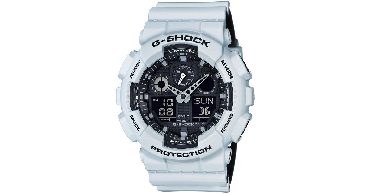 a5ab285d31ca Lyst - G-Shock Ana-digi Resin-strap Watch in White for Men