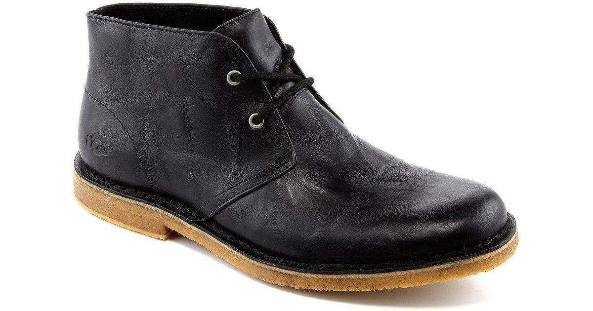 Ugg 174 Men ́s Leighton Desert Chukka Boots In Black For Men