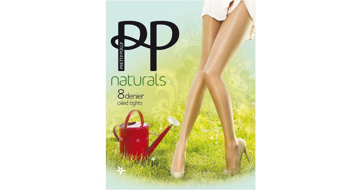 2fd55f7fa Lyst - Pretty Polly Oiled Naturals Sheen Pantyhose