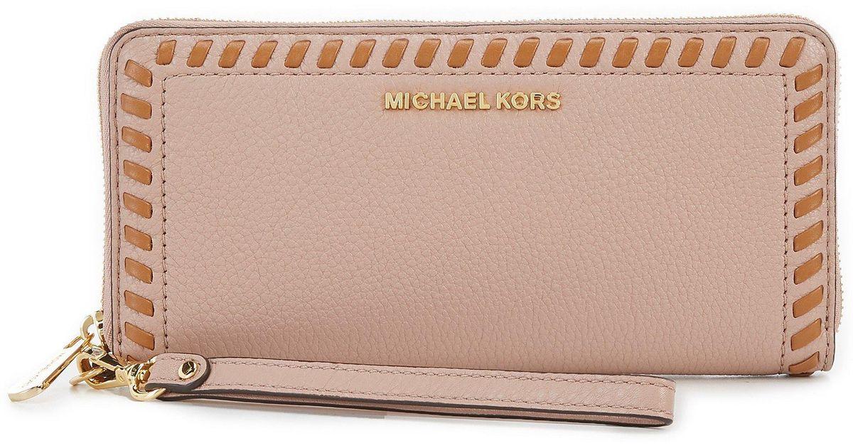 738b6e3d4de0 Lyst - Michael Michael Kors Lauryn Whip-stitched Continental Travel Wallet