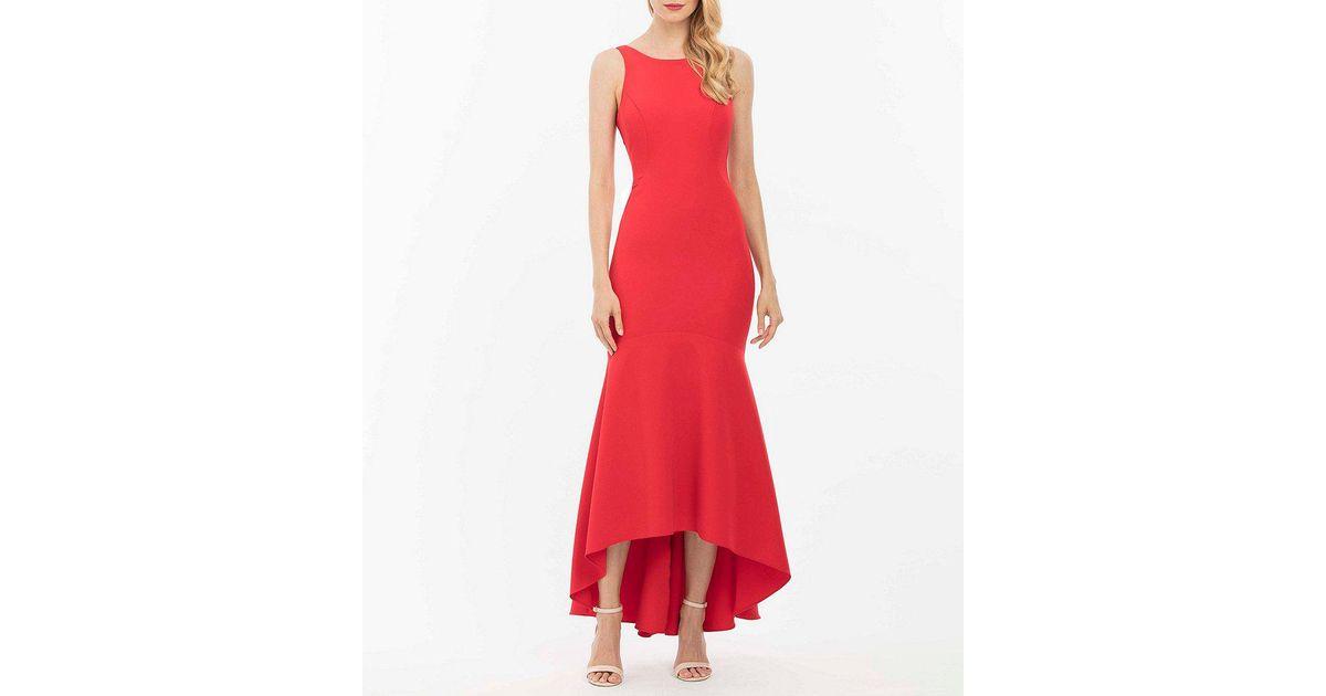 Lyst - Nicole Miller Hi Lo Hem Gown in Red