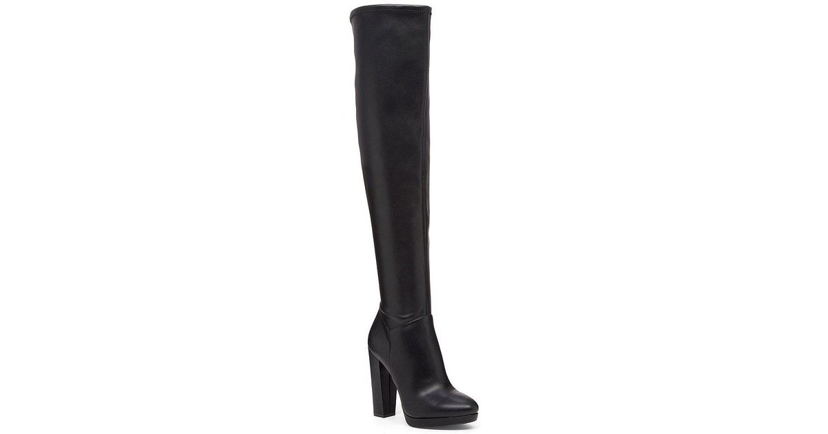 95f8bbbb770 Lyst - Jessica Simpson Grandie Over The Knee Boots in Black