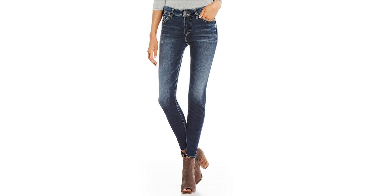 ed072f20 Lyst - Silver Jeans Co. Mazy High Rise Ankle Skinny Jeans in Blue