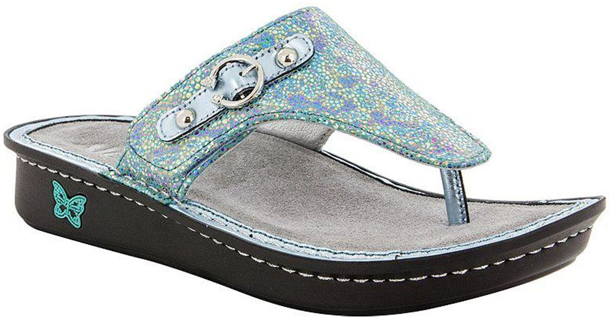 Alegria Vanessa Aqua Love Thong Sandals