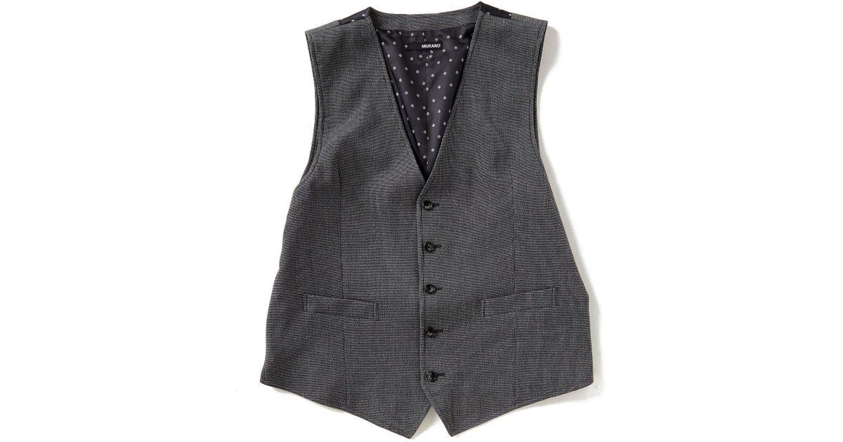 Murano Lyst Men Vest For Gray Textured R3jA54L