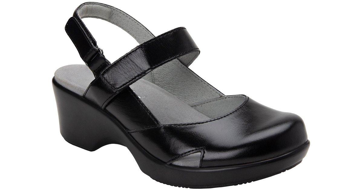 227ead6aa13 Lyst - Alegria Tarah Leather Block Heel Clog in Black