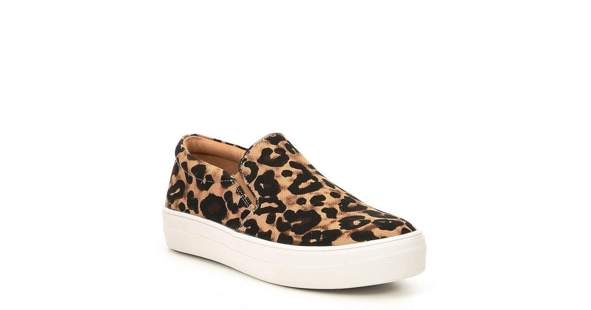 bee1ae0939c Lyst - Steve Madden Gills Leopard Print Platform Sneakers in Brown