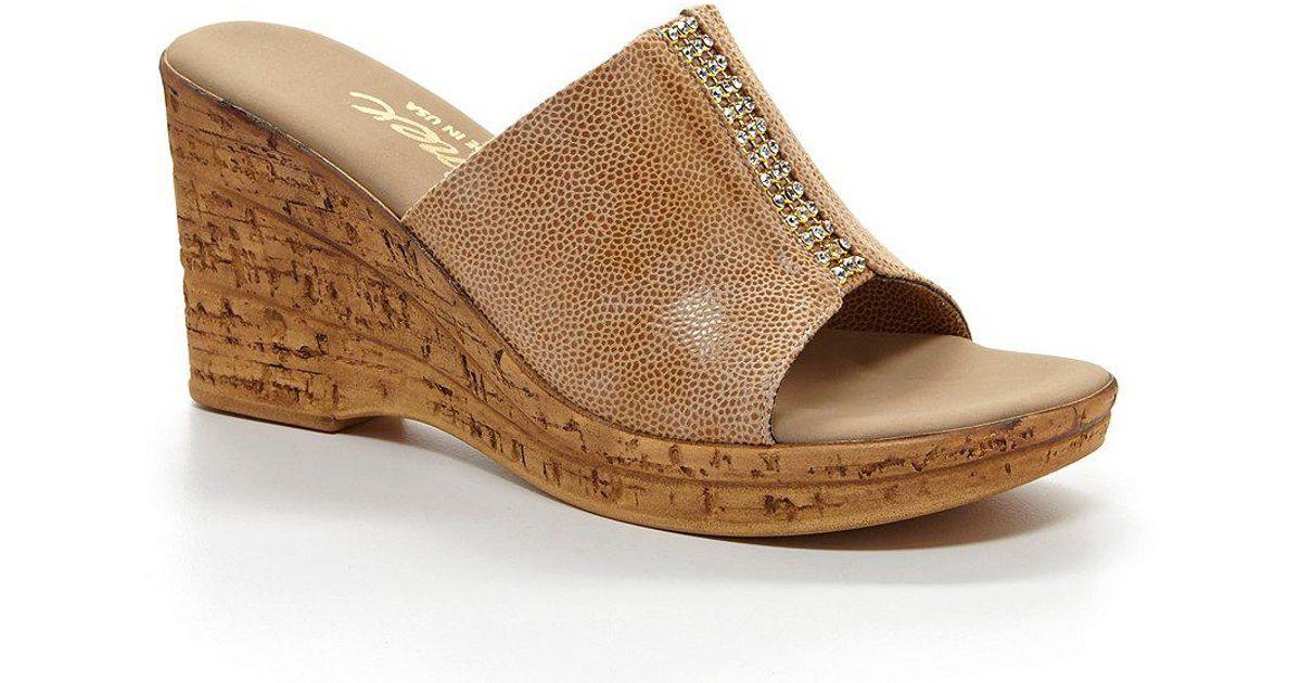 Onex Billie Elastic Rhinestone Detailed Wedge Sandals BUFiZU