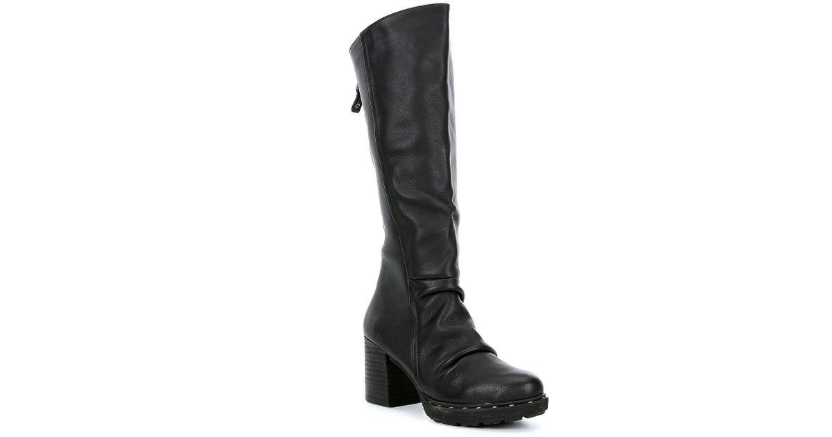 8fda6406d9a2 Lyst - Otbt Gambol Leather Block Heel Boots in Black