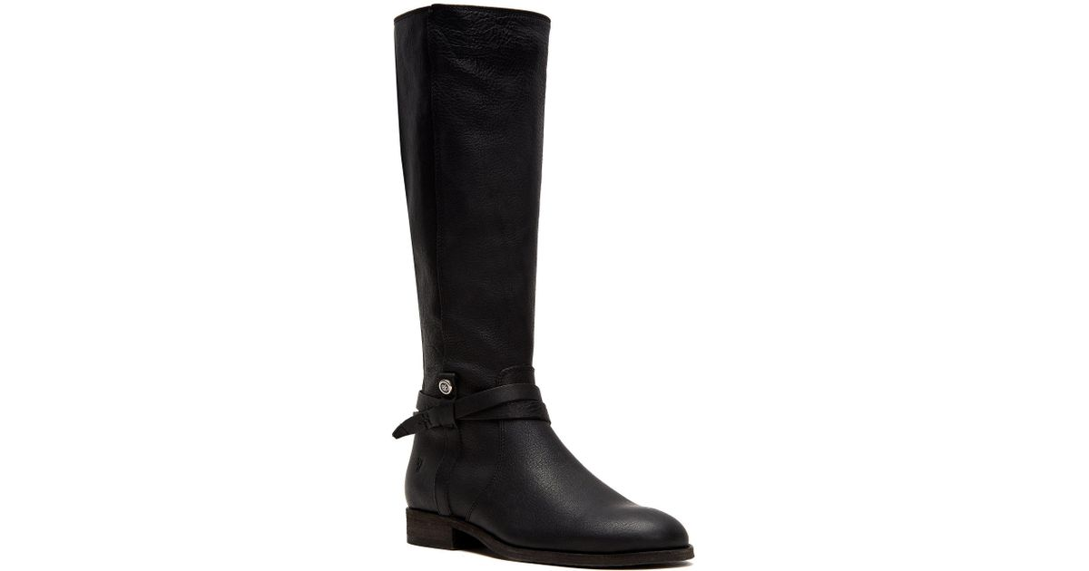 2397102d7d3 Lyst - Frye Melissa Belted Tall Oiled Leather Boots in Black