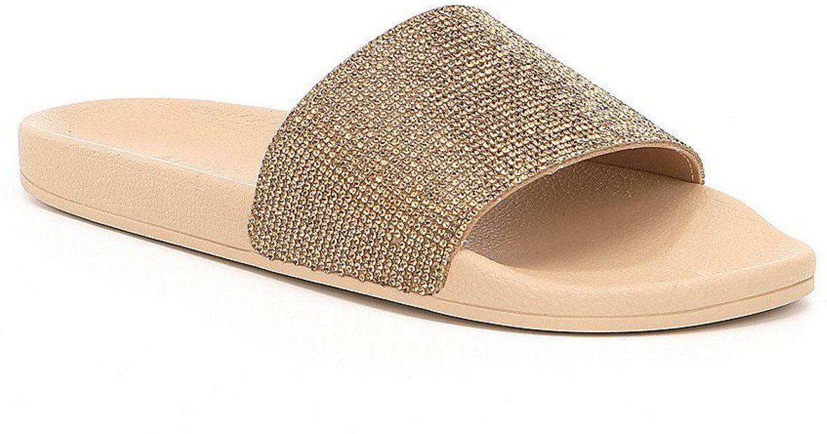 6913ef5858e Lyst - ALDO Montagne Slide Sandals in Metallic
