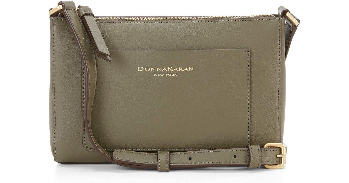 3149ed41b Donna Karan Karla Small Cross-body Bag in Green - Lyst