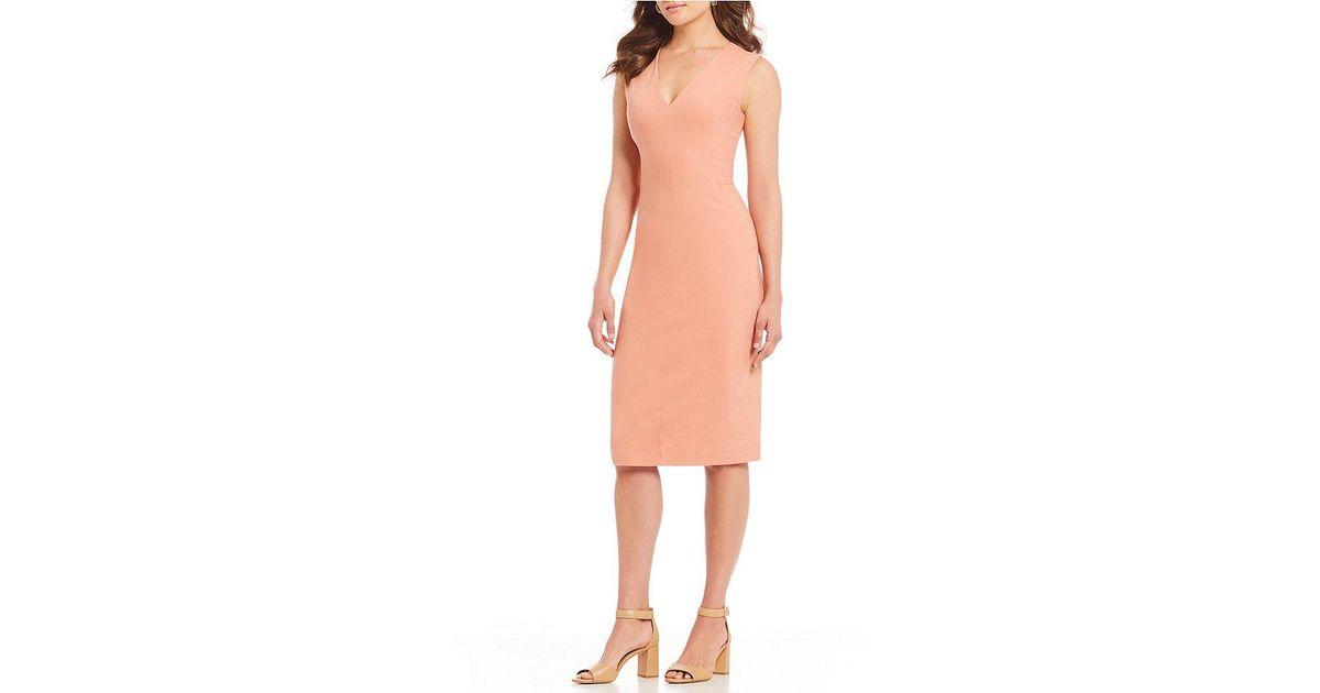 b7a6e6b9adc Lyst - Antonio Melani Bria Fitted Sheath Dress in Pink