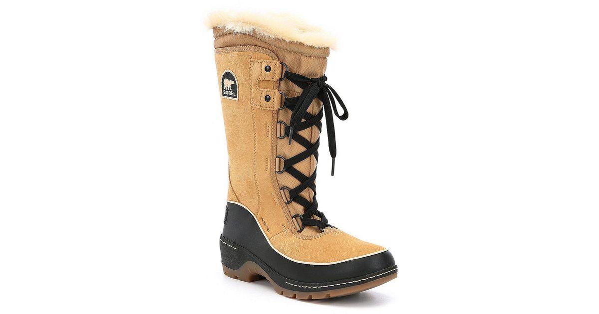 46c00719da23 Lyst - Sorel Women s Tivoli Iii High Waterproof Faux Fur Snow Boots in Black