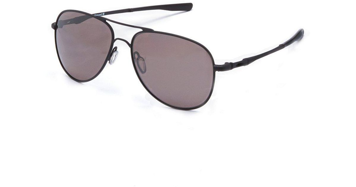 f9f7c33cedc Lyst - Oakley Elmont Prizm Daily Polarized Aviator Sunglasses in Black