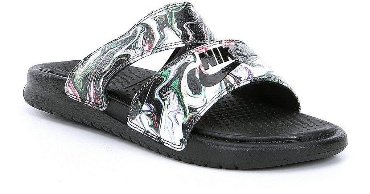 ea216be12c572 Lyst - Nike Benassi Duo Ultra Slide Sandals in Black for Men