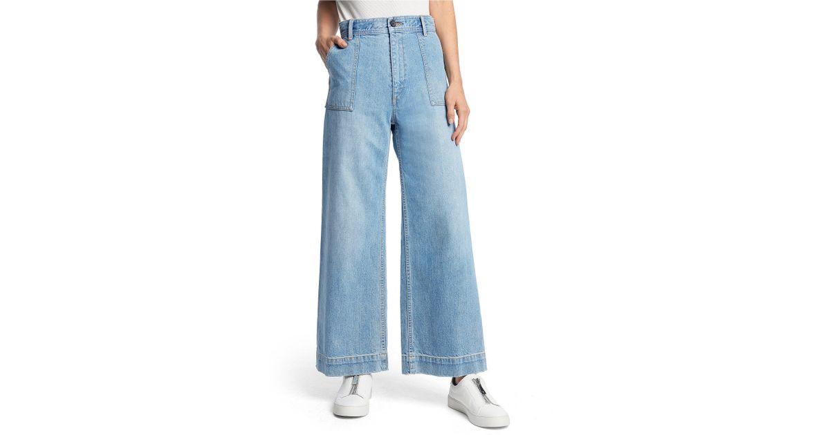 4a2c7ea22e88 Lyst - Frye Nadia Wide Leg Jean