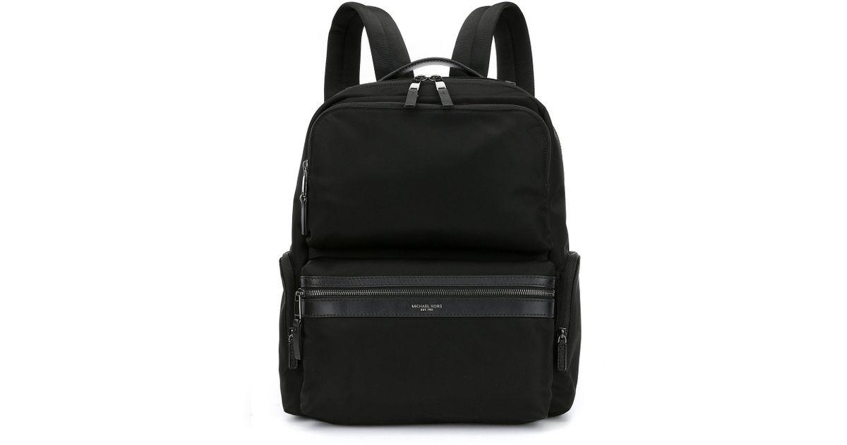 ae1bb7c2b128 Michael Kors Kent Cargo Backpack in Black for Men - Lyst