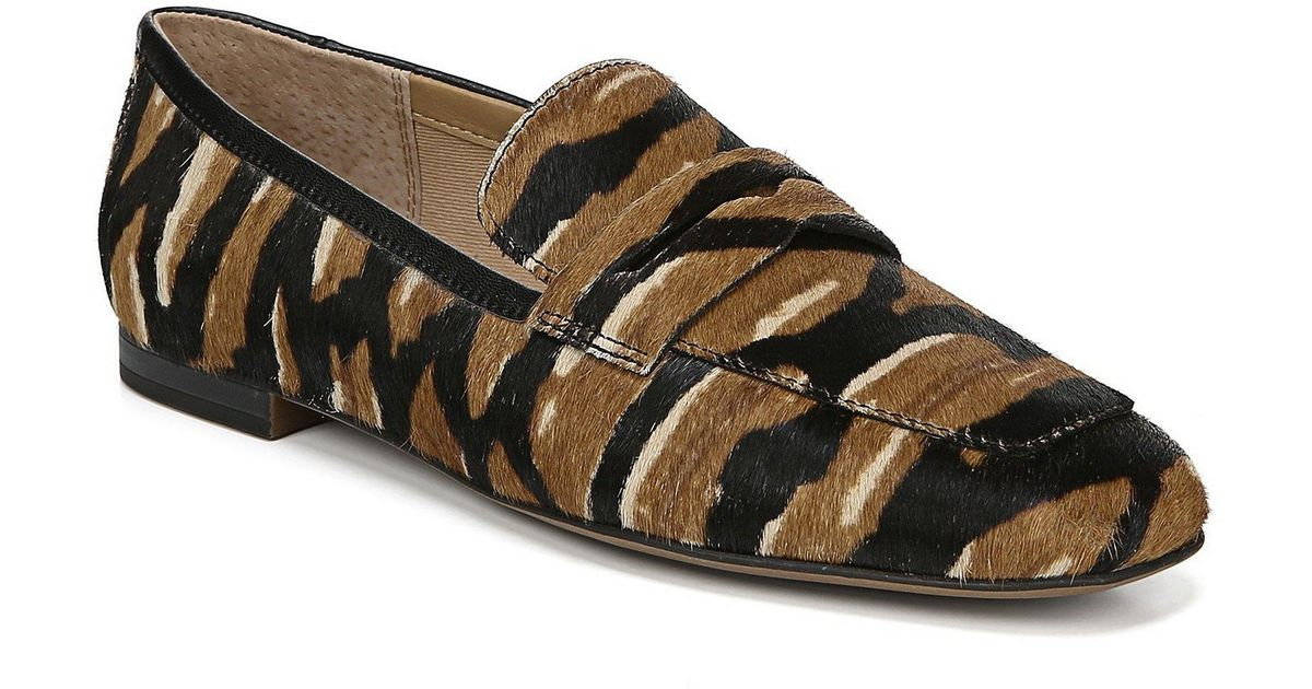 38cfcf4315d Lyst - Franco Sarto Dame2 Tiger Print Calf Hair Loafers