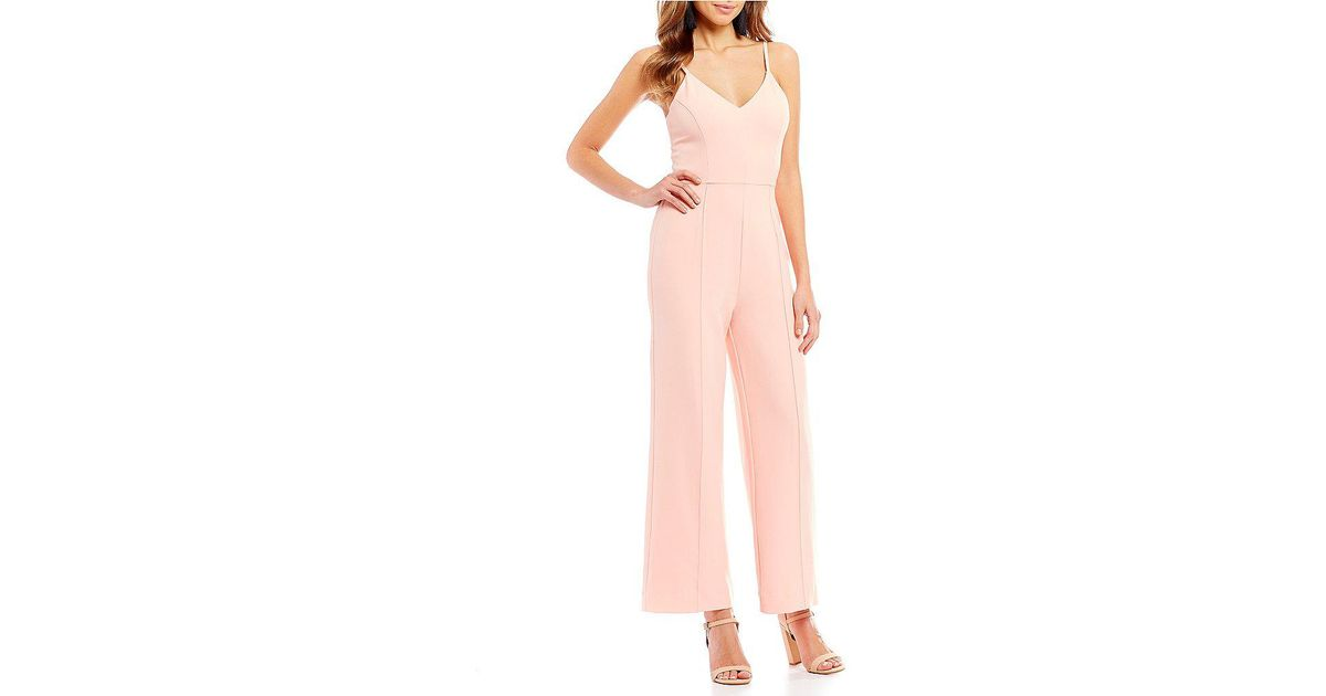 81ac4109b4c Lyst - Gianni Bini Claire Sleeveless Jumpsuit in Pink