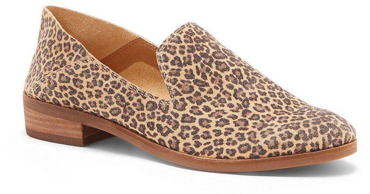 Lucky Brand Cahill Leopard Print Block Heel Flats fu1zJ4g
