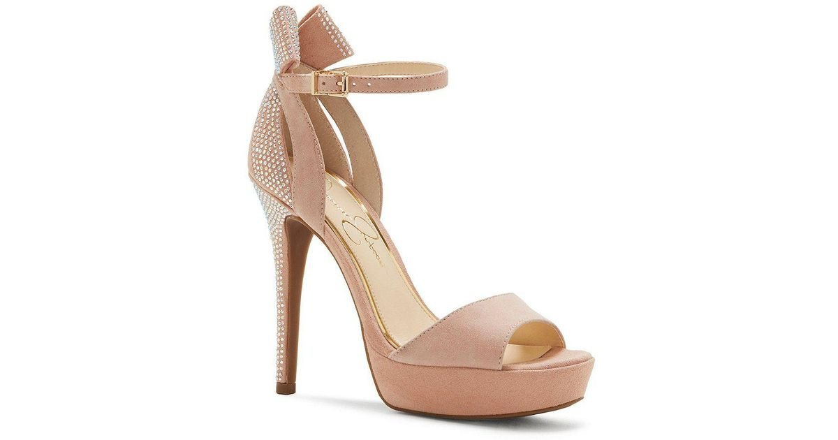 46159b60c34 Lyst - Jessica Simpson Baani Platform Sandals in Natural