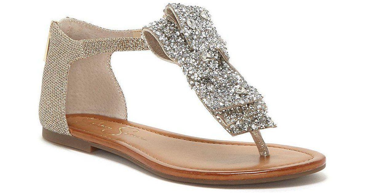 Jessica Simpson Kellise Rhinestone Bow Sandals f42aNTuC