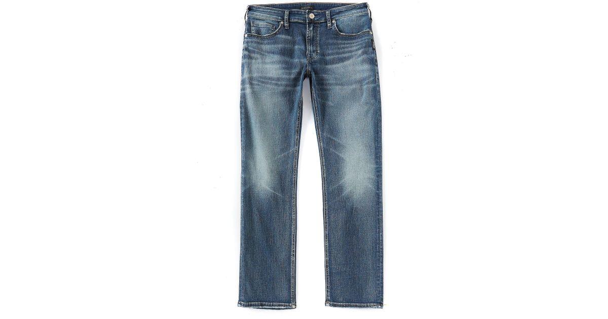 101fba9a Lyst - Silver Jeans Co. Allan Classic Straight Leg Jeans in Blue for Men