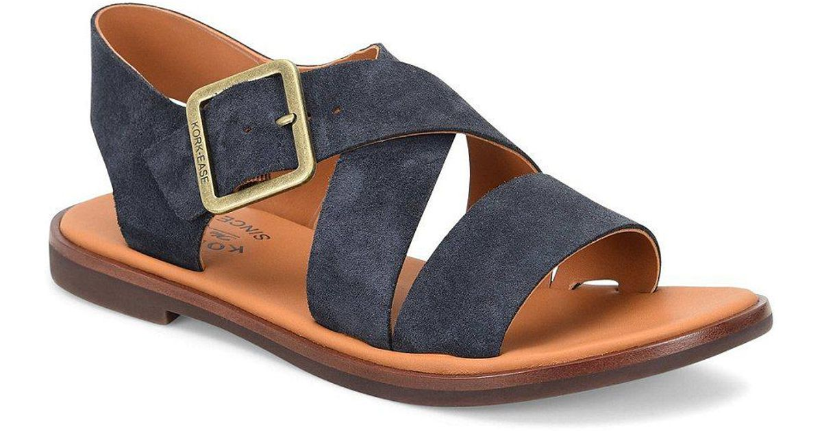 Kork-Ease Nara Banded Suede Sandals EtHapXUJXc