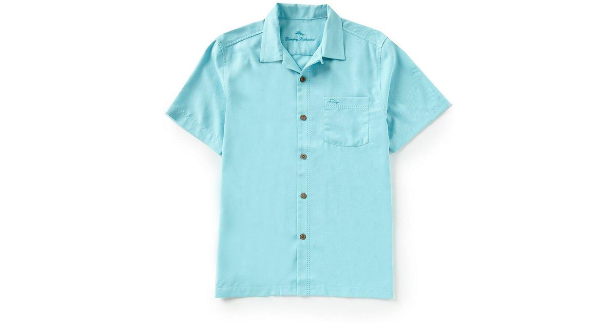 4e5912d37 Tommy Bahama Islandzone Short-sleeve Tropicool Marlin-embroidered Shirt in  Blue for Men - Lyst