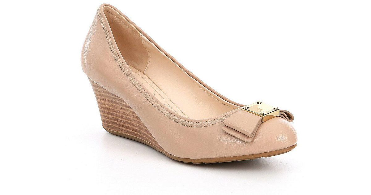 Cole Haan Tali Leather Bow Detail Wedges ilANKouPz1