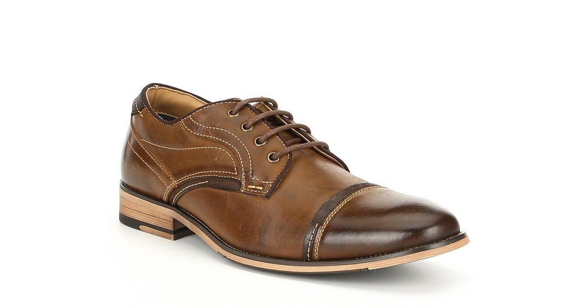 80e819a3312 Lyst - Steve Madden Men s Jenton Leather Derby Oxford in Brown for Men