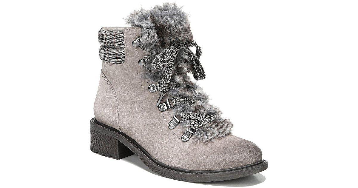 f517c8060e31 Lyst - Sam Edelman Darrah 2 Faux Fur Hiker Boots in Natural