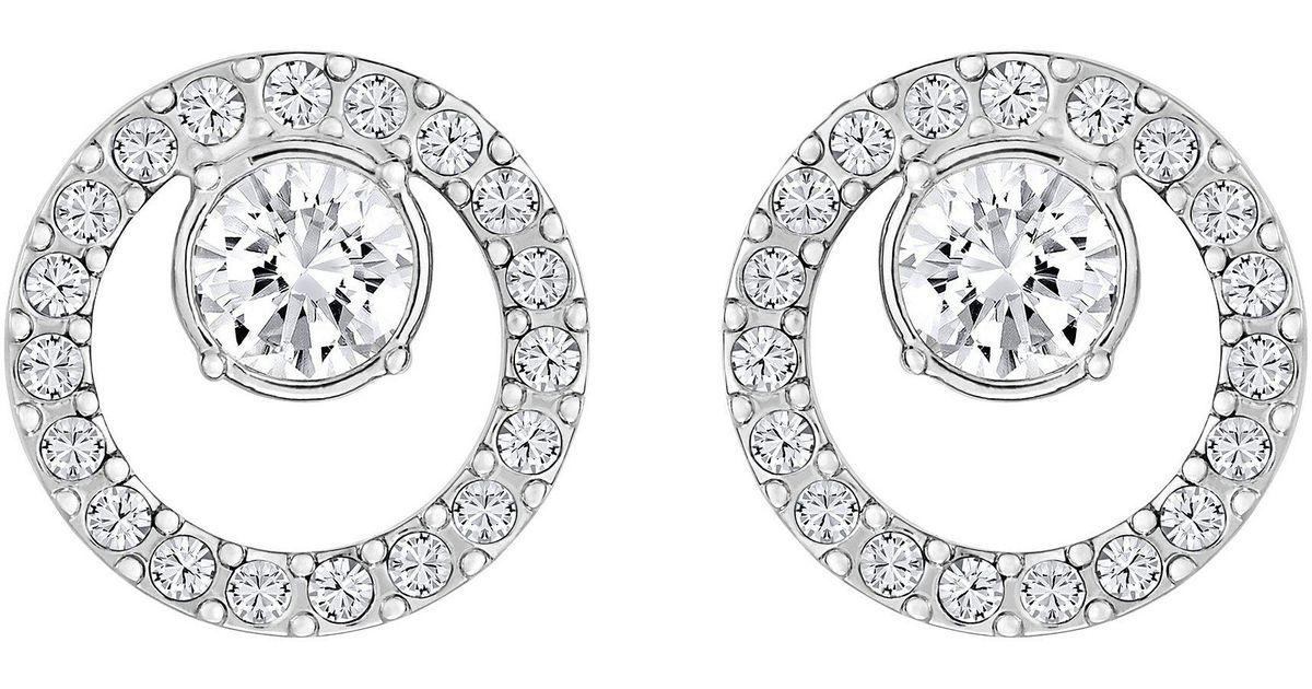 30af01335 Lyst - Swarovski Creativity Circle Stud Earrings in Metallic