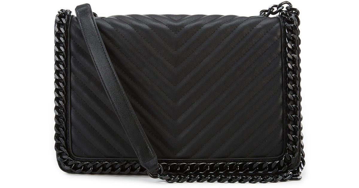 28416944c3f ALDO Greenwald Quilted Chain Shoulder Bag in Black - Lyst