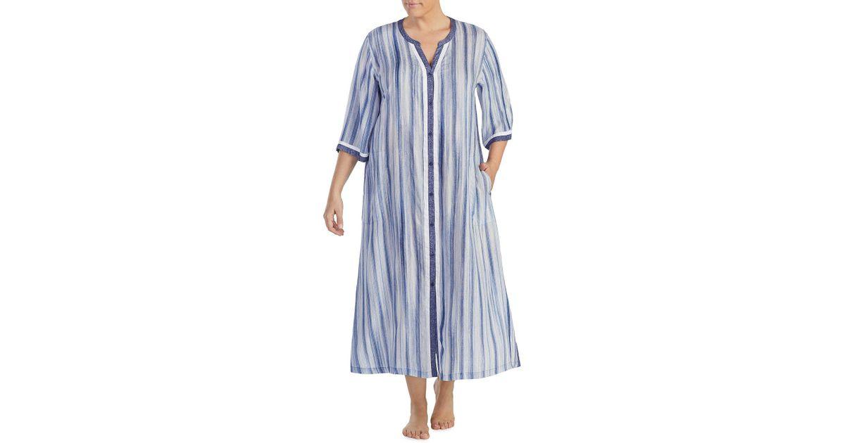 7515da0e75eb81 Lyst - Donna Karan Maxi Nightshirt in Blue