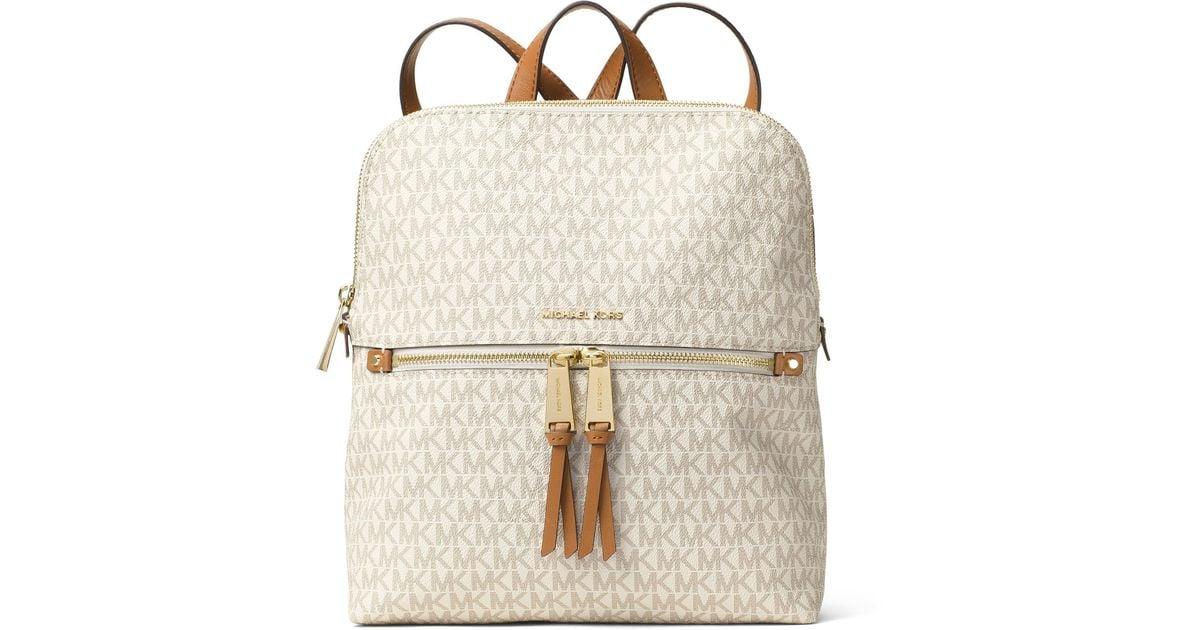 9652834e7 MICHAEL Michael Kors Rhea Signature Zip Slim Backpack - Lyst