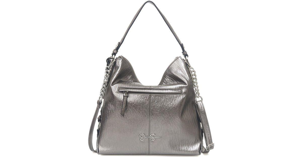 Lyst - Jessica Simpson Ryanne Metallic Hobo Bag f1f19f01f4961