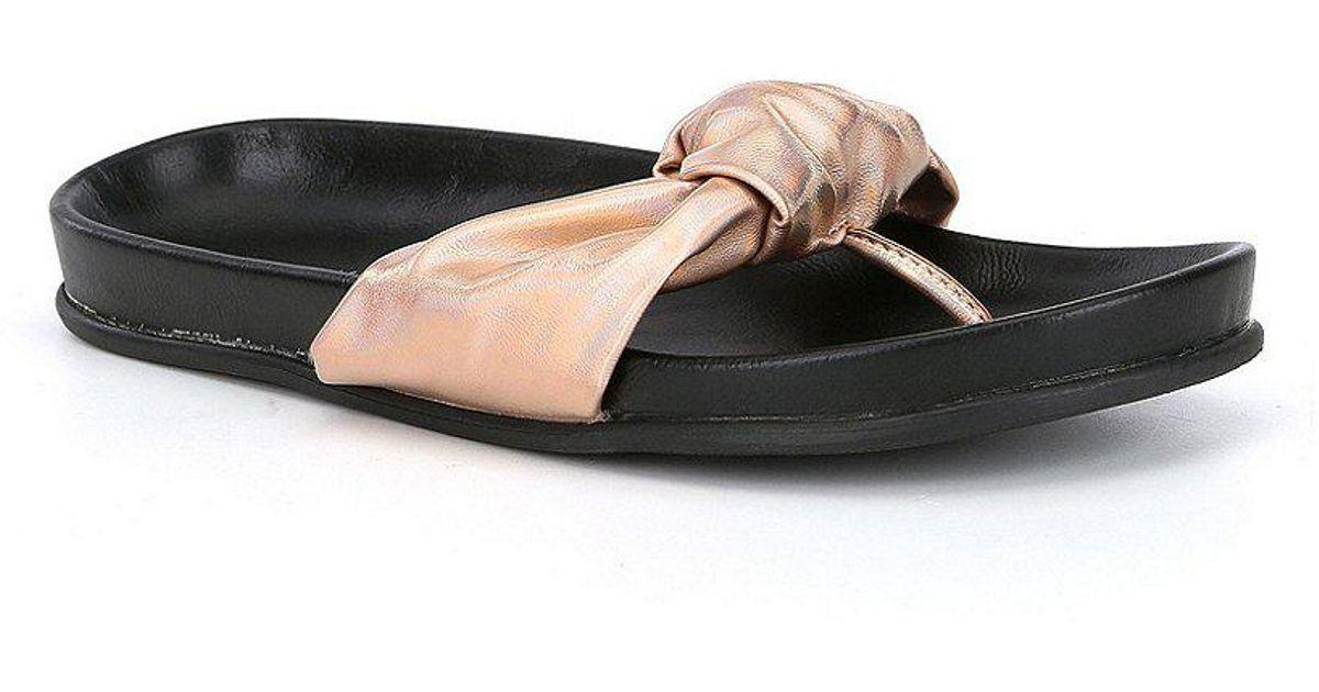 Volatile Glaze Knot Flat Sandals YXXK8bBKe