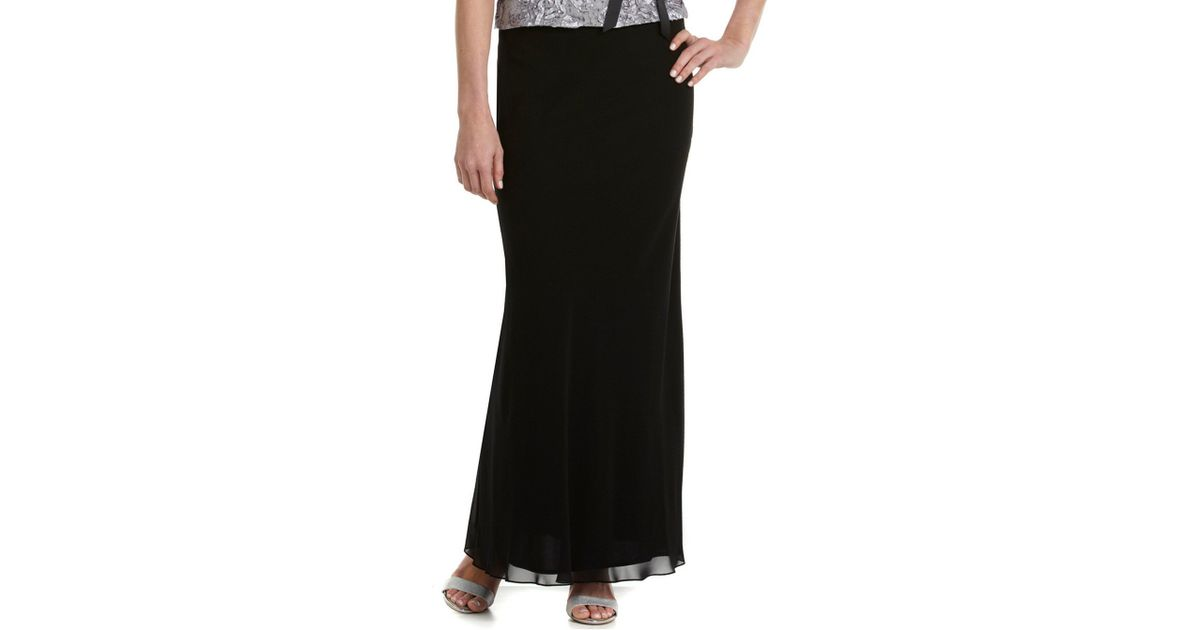 015f12e6f5 Lyst - Alex Evenings Petite Chiffon A-line Skirt in Black
