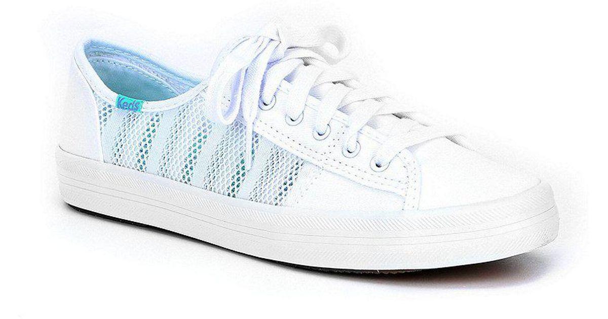 01c0b516d6 Keds Kickstart Stripe Mesh Sneakers in White - Lyst