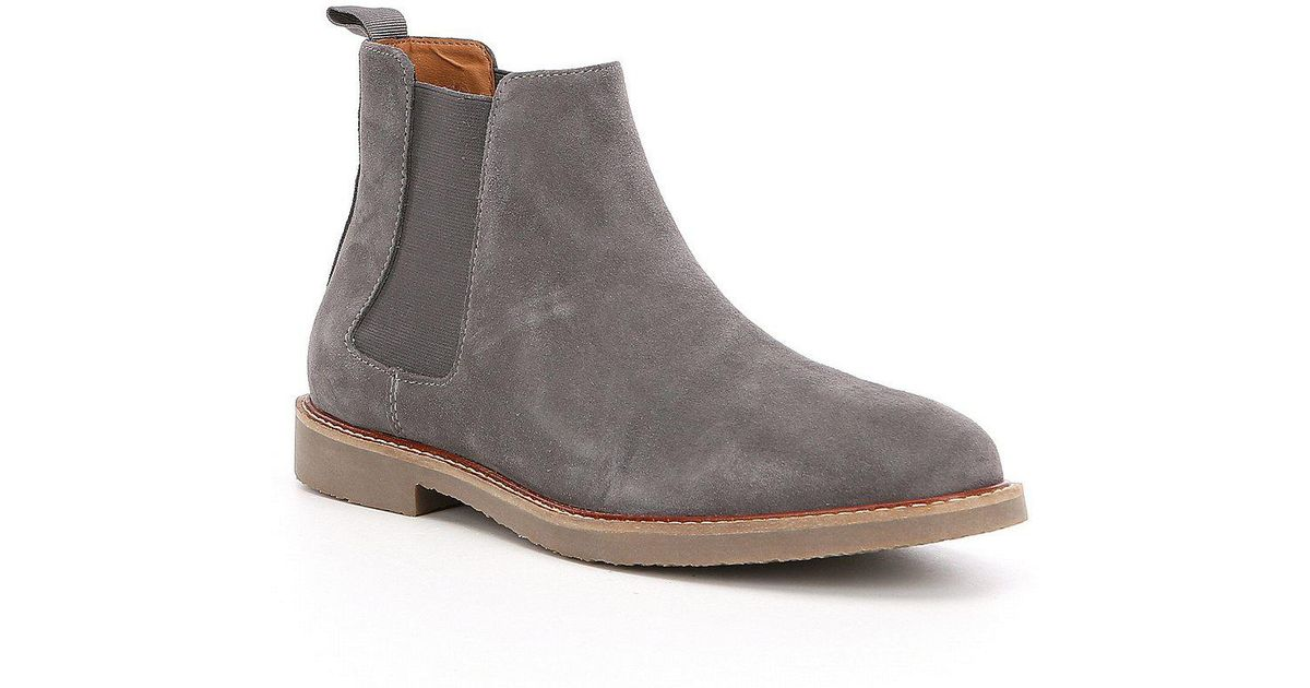 04f886521a20 Steve Madden Highline Chelsea Suede Boots in Gray - Lyst