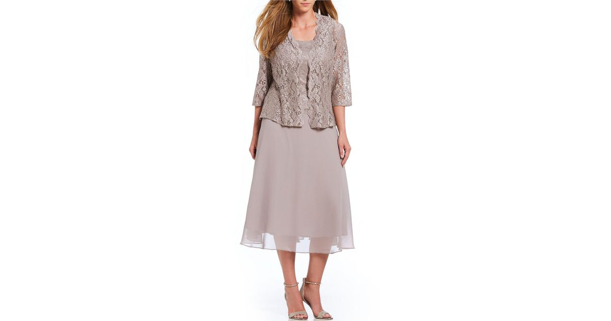 Alex Evenings Plus Size Mock 2-piece Jacket Dress - Lyst