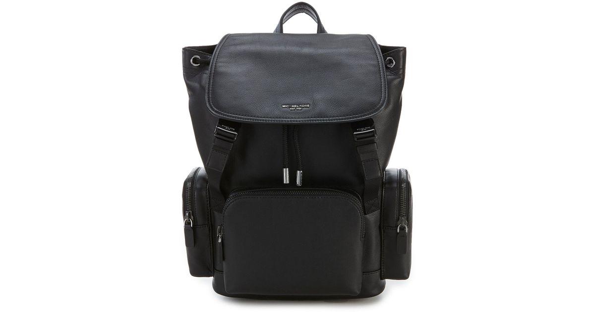 4566ec2003af Michael Kors Henry Rucksack Backpack in Black for Men - Lyst