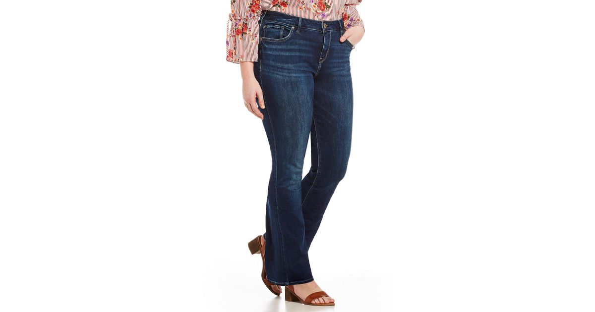 05eb8c2daf3 Lyst - Silver Jeans Co. Plus Size High Rise Avery Slim Clean Bootcut Jeans  in Blue