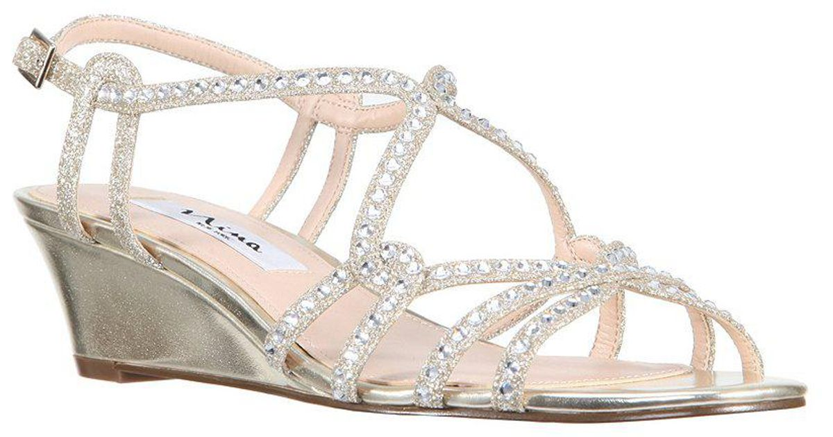 Finola Glitter Ankle Strap Wedge Sandals abzn6i1