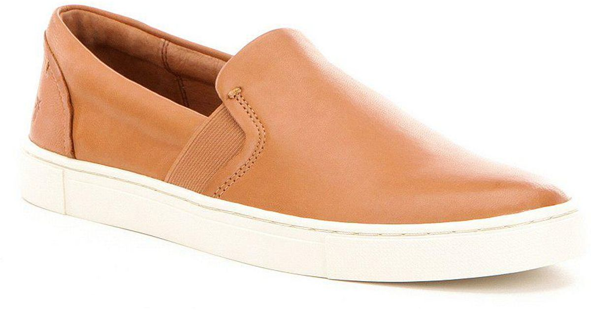 Ivy Soft Leather Slip-On Sneakers QjB6cA
