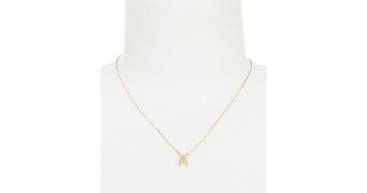 Lyst kate spade stone initial pendant necklace in metallic aloadofball Choice Image
