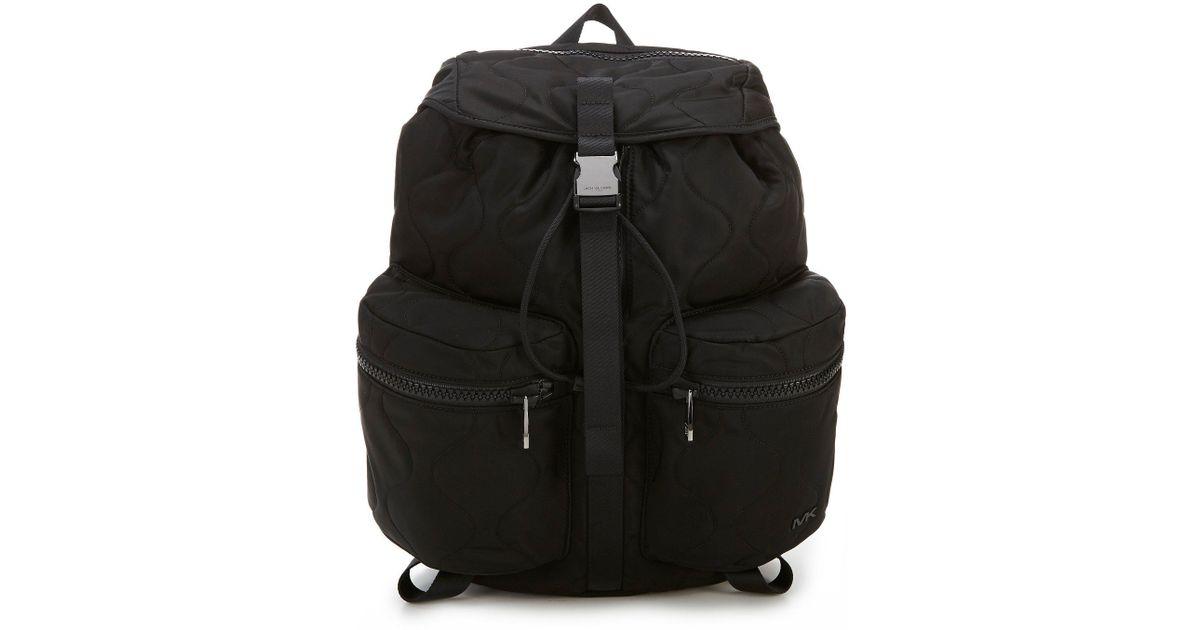 9175c37fa Michael Kors Kent Sport Zip Backpack in Black for Men - Lyst